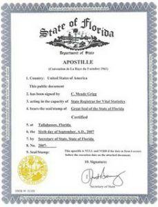 Apostille certificados de nacimiento