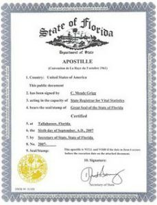 Apostille en California Estados Unidos USA